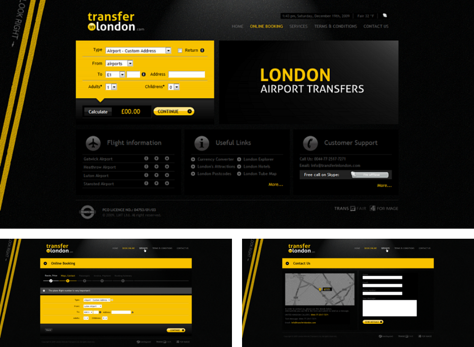Transfer in London - Weboldal